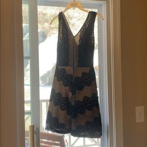Black lace formal dress